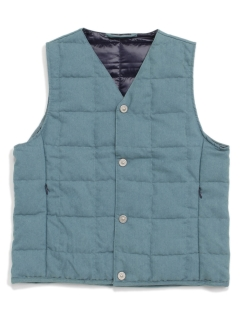 TAION/【KIDS】DENIM V NECK BUTTON DOWN VEST/ダウンジャケット/コート