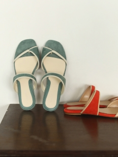 TODAYFUL/Piping Suede Sandals/サンダル