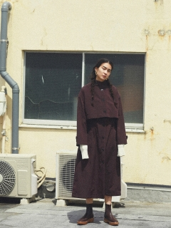 TODAYFUL/Cape Trench Coat/トレンチコート