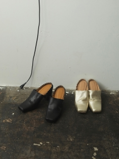 TODAYFUL/Square Gather Shoes/フラットシューズ