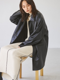 TODAYFUL/Ecoleather Over Jacket/テーラードジャケット/コート
