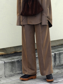 TODAYFUL/Stripe Jacquard Trousers/フルレングス