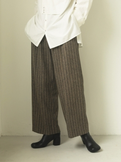 TODAYFUL/Stripe Wide Trousers/フルレングス