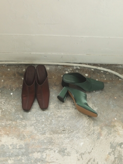 TODAYFUL/Square Satin Shoes/パンプス