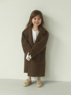 TODAYFUL/Over Check Coat (KIDS)/トレンチコート