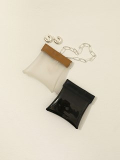 TODAYFUL/Leather x PVC Mini Pouch/ポーチ