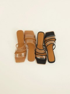 TODAYFUL/Clear Piping Sandals/サンダル
