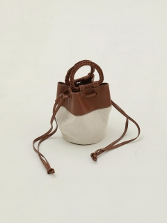 TODAYFUL/Canvas x Leather Shoulder Bag/ショルダーバッグ
