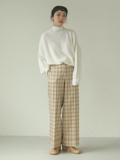 TODAYFUL/Centerpress Check Trousers/フルレングス