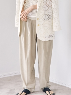 TODAYFUL/Highwaist Tuck Trousers/フルレングス