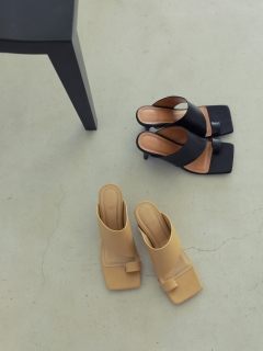 TODAYFUL/Squaretoe Leather Sandals/サンダル