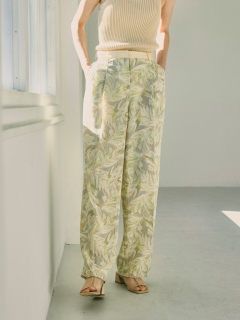 TODAYFUL/Leaf Tuck Trousers/フルレングス
