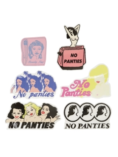 LITTLE UNION TOKYO/【NO PANTIES】STICKER PAC 2 (6piece)/ステッカー/テープ