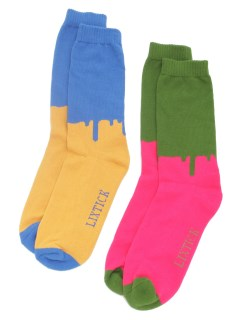 LITTLE UNION TOKYO/【LIXTICK】LIXTICK DRIP SOCKS 2PACK (HI) 4TH/ソックス