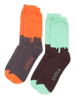 LITTLE UNION TOKYO/【LIXTICK】LIXTICK DRIP SOCKS 2PACK (HI) 5TH/ソックス