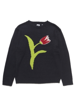 LITTLE UNION TOKYO/【irojikake】irojikake GIVE SOME FLOWER knit/ニット