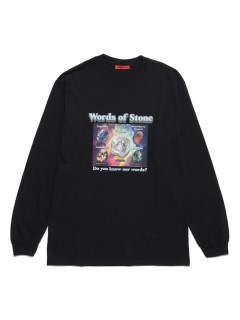 LITTLE UNION TOKYO/【LITTLE UNION】WORDS OF STONE L/S TEE/カットソー/Tシャツ