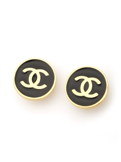 USAGI Vintage/CHANEL/coco round earrings/イヤリング