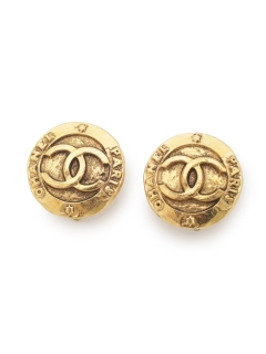 USAGI Vintage/CHANEL/coco coin earrings/イヤリング