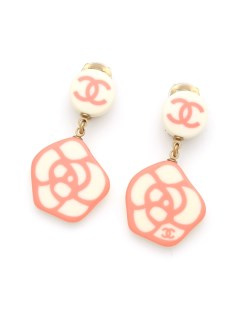 USAGI Vintage/CHANEL/cammellia charm earrings/イヤリング