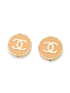USAGI Vintage/CHANEL/coco mark round earrings/イヤリング