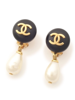 USAGI Vintage/CHANEL/fake pearl earrings/イヤリング
