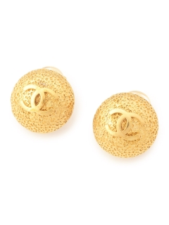 USAGI Vintage/CHANEL/round earrings/イヤリング
