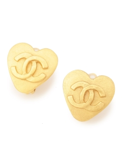 USAGI Vintage/CHANEL/heart earrings/イヤリング
