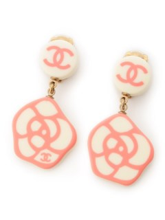 USAGI Vintage/CHANEL/camellia charm earrings/イヤリング