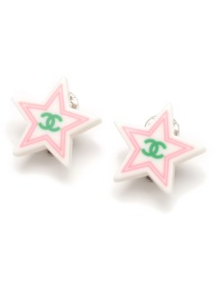 USAGI Vintage/CHANEL/coco mark  star earrings/イヤリング