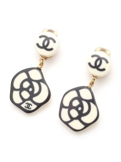 USAGI Vintage/CHANEL/camellia earrings/イヤリング