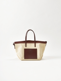 YAHKI/Canvas×Leather Tote Bag  (YH-306)/トートバッグ