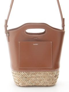 YAHKI/2Way Straw Bag (YH-384)/カゴバッグ