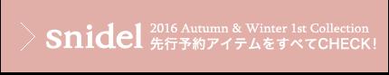 【送料無料】snidel2016A/W新作アイテム一覧