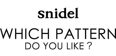 "snidel""WHICH PATTERN DO YOU LIKE?"""