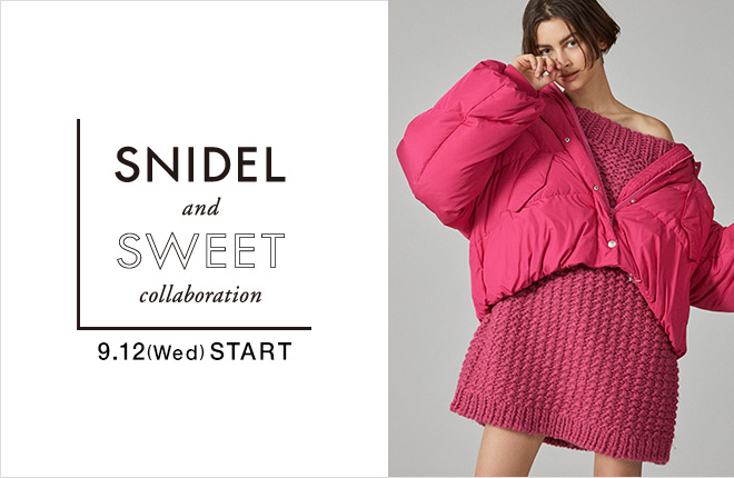 SNIDEL and sweet collaboration #16