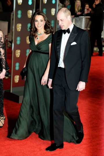 LONDON, ENGLAND - FEBRUARY 18:  Prince William, Duke of Cambridge and Catherine, Duchess of Cambridge attend the EE British Academy Film Awards (BAFTA) held at Royal Albert Hall on February 18, 2018 in London, England.  (Photo by Jeff Spicer/Jeff Spicer/Getty Images)
